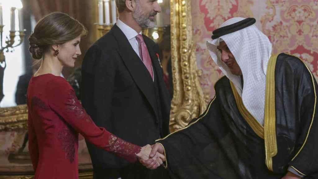 Los reyes, durante la recepción de este jueves al cuerpo diplomático en el Palacio Real.