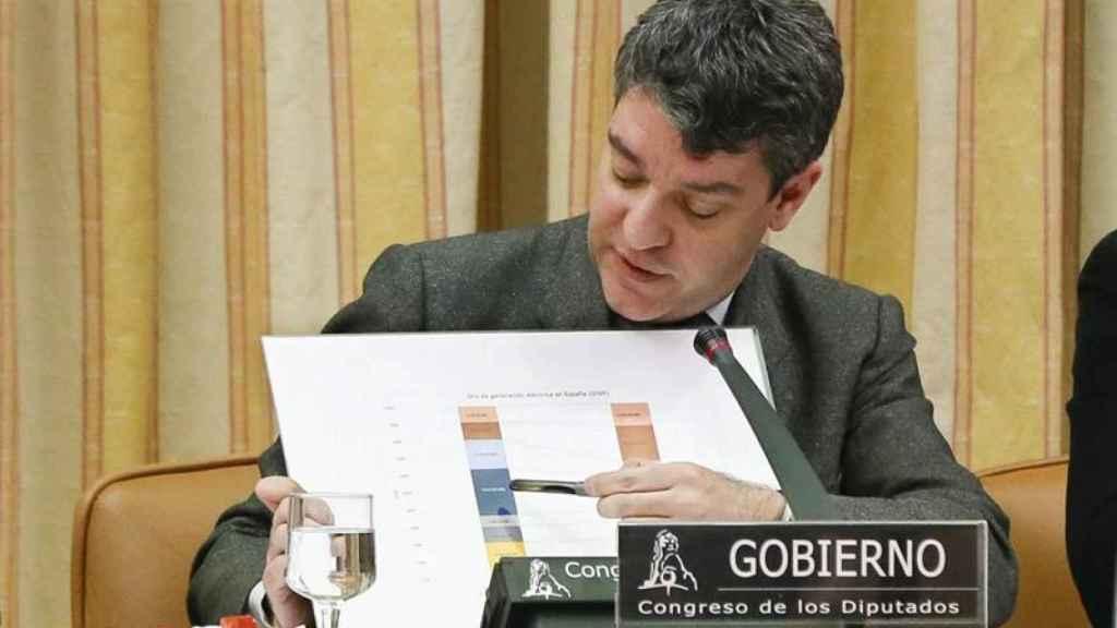 El ministro de Energía, Álvaro Nadal, durante su comparecencia en el Congreso.