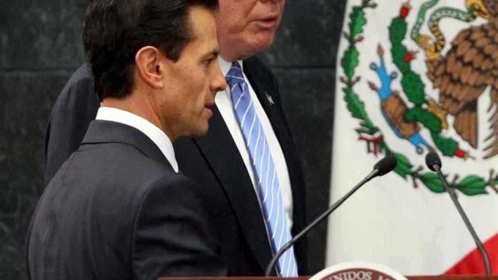 Trump se reunió aún como candidato presidencial con Peña Nieto en México (agosto 2016).