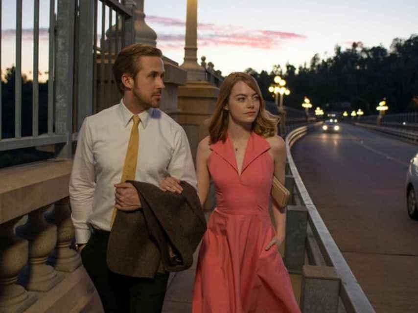 Escena de la película La La Land, con 14 nominaciones a los Oscar.
