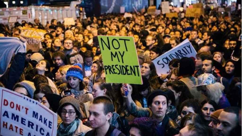 Una de las manifestaciones contra Trump acontecidas en las últimas semanas.