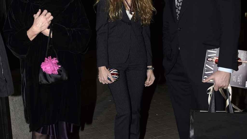 Carmen Cervera, Blanca Cuesta y Borja Thyssen, en una imagen de archivo