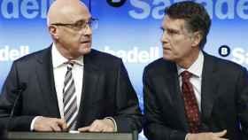 José Oliu y Jaime Guardiola, presidente y consejero delegado del Banco Sabadell.