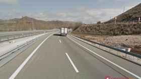 La A-2 a su paso por Medinaceli, en Soria