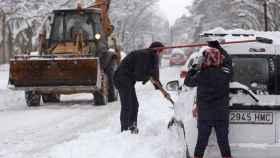 Carreteras cortadas por la nieve en Castilla y León.