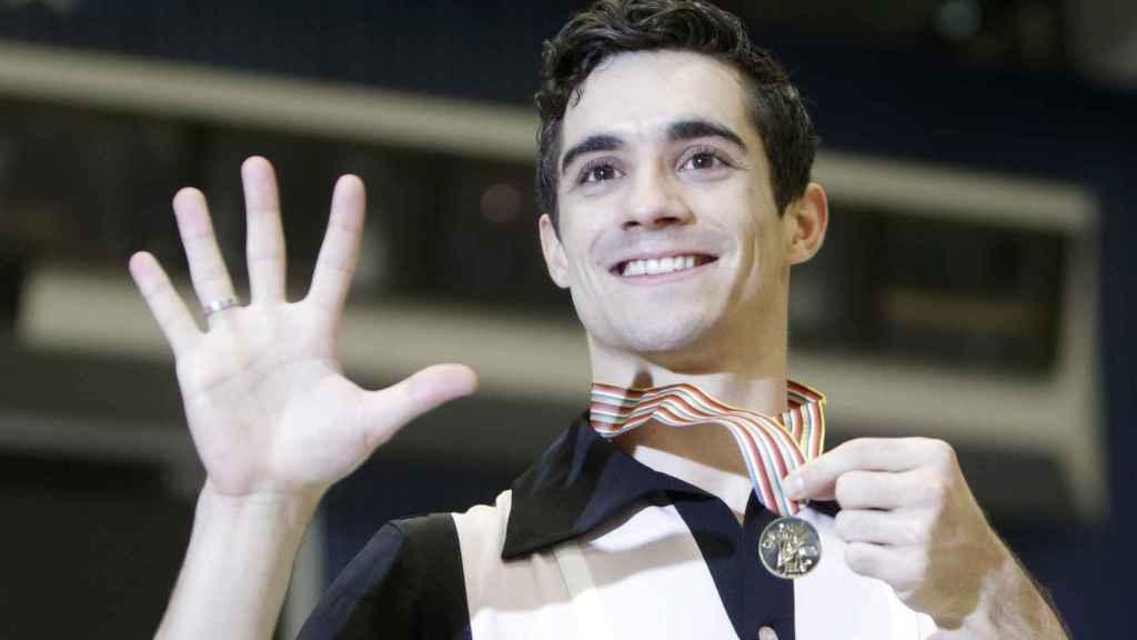 Javier Fernández celebra su nuevo título continental / REUTERS