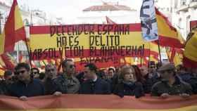 Cabecera de la manifestación que ha pedido la absolución de los condenados de Blanquerna