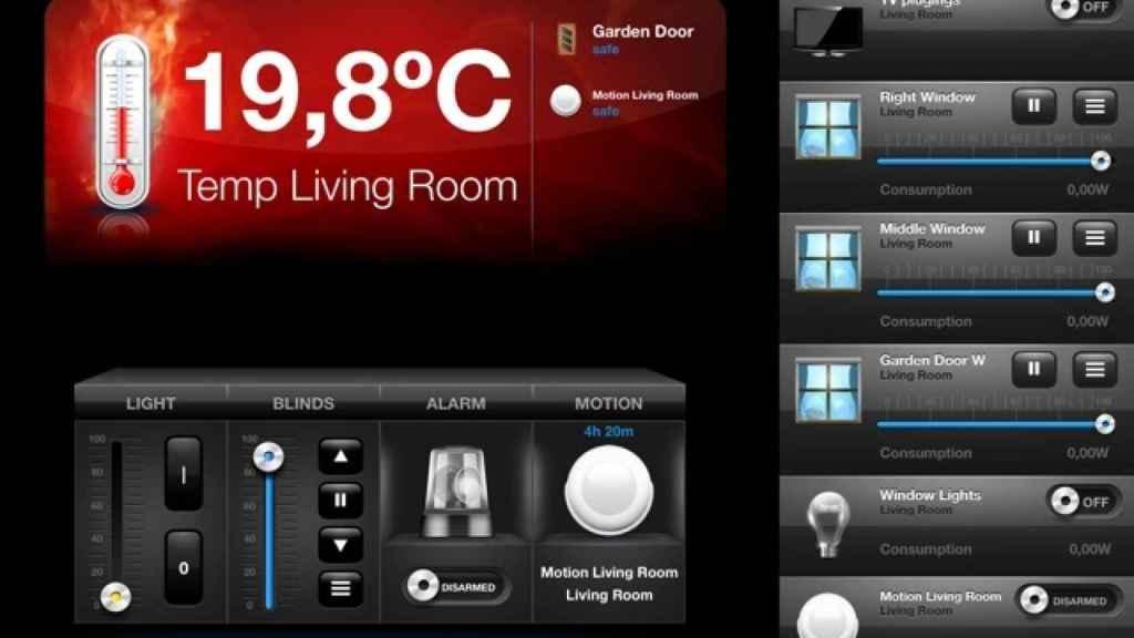 Así se controla una casa inteligente desde el iPad.