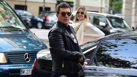 Antonio Banderas y Nicole Kimpel durante una de sus visitas a Madrid.