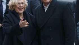 Manuela Carmena recibe al presidente de Ecuador, Rafael Correa.