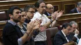 Espinar, Montero, Errejón e Iglesias en el Congreso.