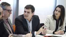 Rivera, Arrimadas, Villegas y Girauta en la primera reunión del nuevo Comité Ejecutivo.