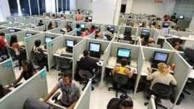 Imagen de un call center
