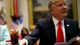 Trump, durante una reunión este lunes en la Casa Blanca
