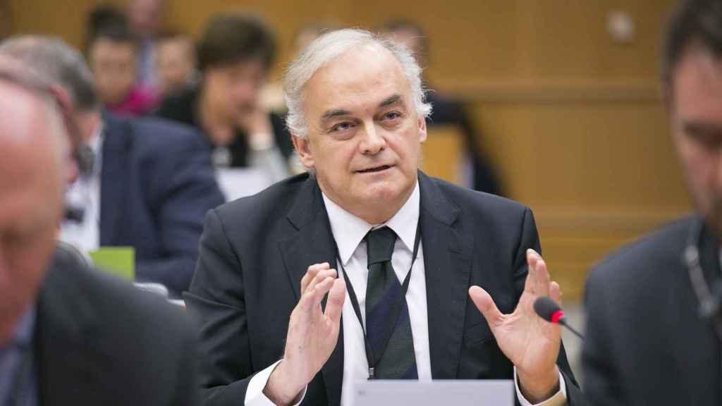 Esteban González Pons, durante un debate en el Parlamento Europeo.