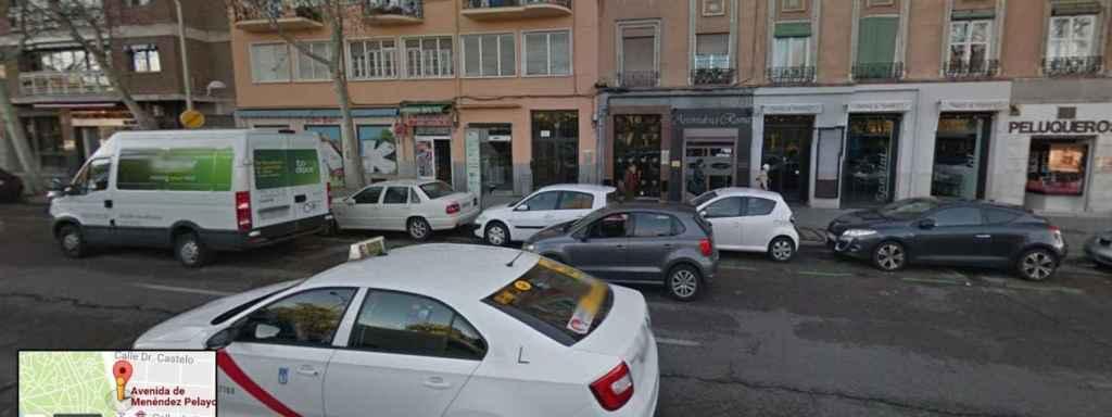 Imagen de la calle donde tiene su casa madrileña Isabel Pantoja.