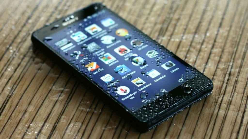 smartphone agua temperatura se calienta
