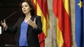 La vicepresidenta del Gobierno y ministra para las Administraciones Territoriales, Soraya Saénz de Santamaría en Valencia.