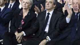 Fillon y su mujer Penelope, en un acto electoral esta semana