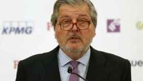 El ministro de Educación, Íñigo Méndez de Vigo, durante un desayuno informativo celebrado este martes