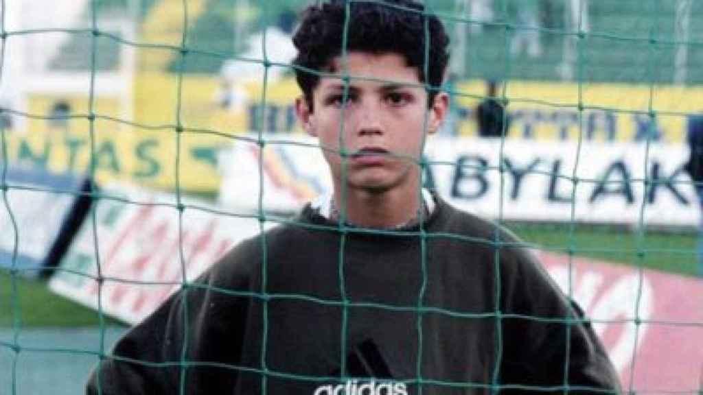 Cristiano Ronaldo de adolescente.