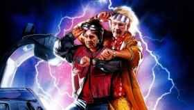Miguel Blesa y Rodrigo Rato metidos en el papel de Marty McFly y de Doc en 'Black to de Future'.