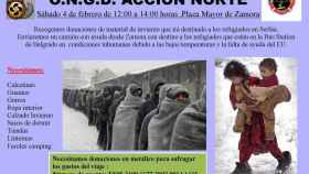 zamora ongd accion norte refugiados ropa