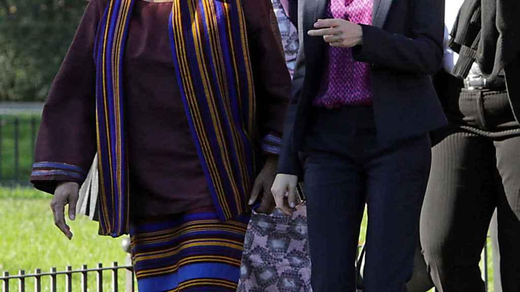Letiza, en el encuentro anual de la Fundación Mujeres por África, en 2015.