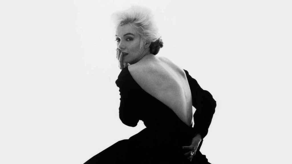 Marilyn Monroe espectacular vestida por Dior.  Foto: Cortesía de Dior