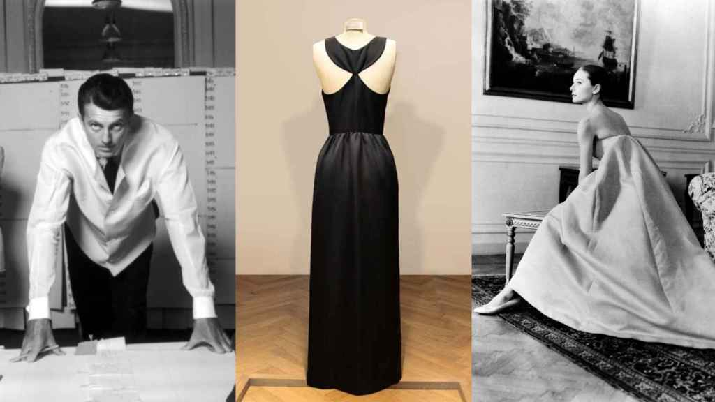 Hubert de Givenchy y el famoso vestido que la actriz lució en Desayuno con diamantes.  Foto: Cortesía de Givenchy.