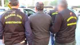 La Guardia Civil durante una de las detenciones