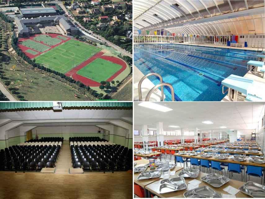 Algunas instalaciones del colegio que ha visitado Paz Vega para sus hijos.