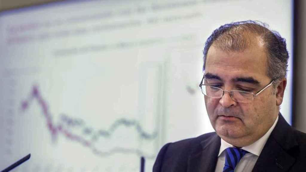 Ángel Ron presenta sus últimos resultados como presidente del Banco Popular.