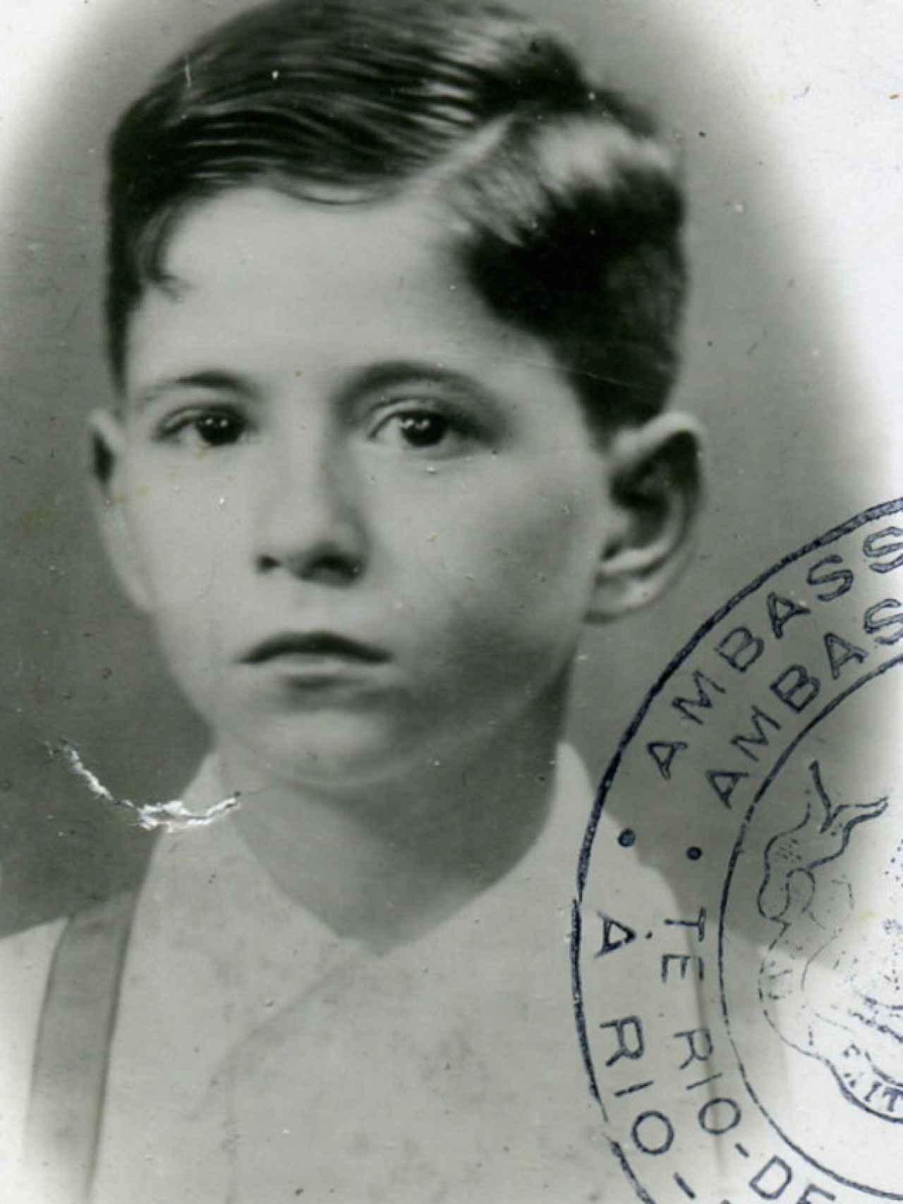 Foto de pasaporte de Daniel Matuzewitz, beneficiario de un visado de Sousa Mendes.