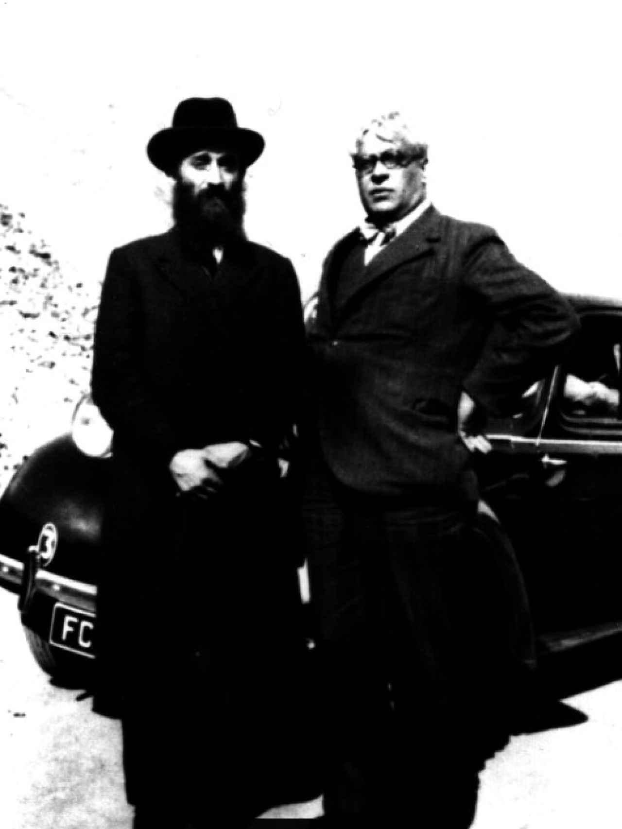 El rabino Kruger y Arístides Sousa en 1940.
