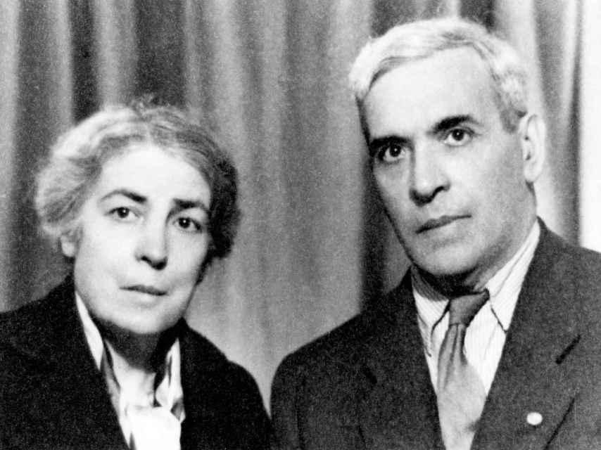 Aristides Sousa Mendes y su mujer Angelina en 1948.
