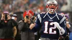 Tom Brady en plena celebración.
