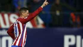 Fernando Torres celebra su gol contra el Leganés.