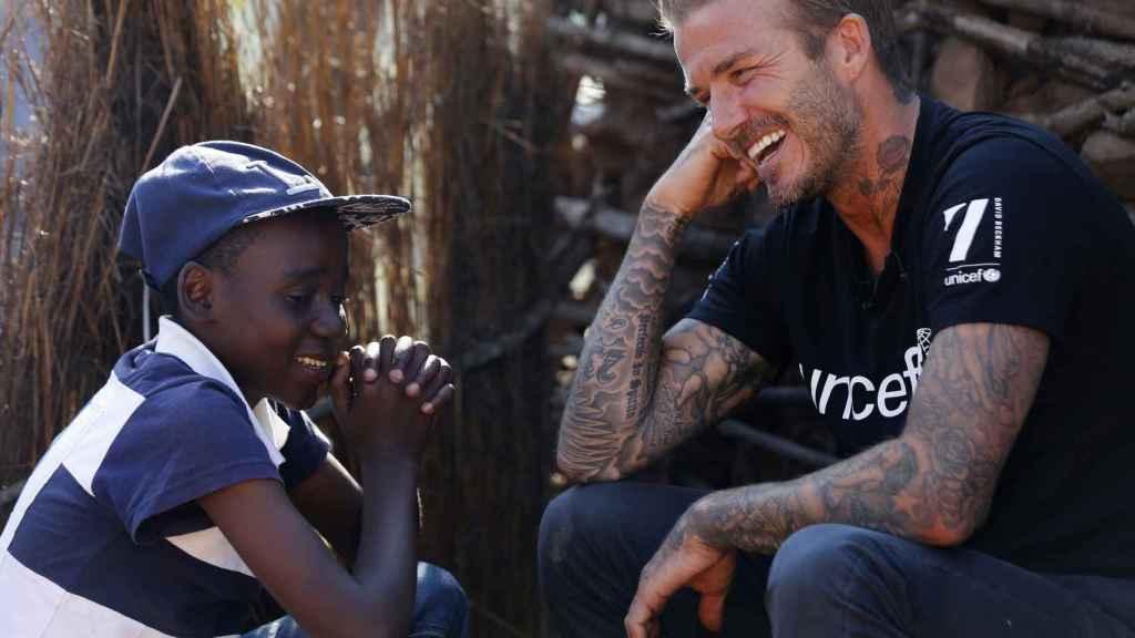 Beckahm, en un acto de UNICEF en Suazilandia.
