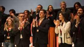Albert Rivera, Villegas y Arrimadas en la Asamblea General de Ciudadanos.