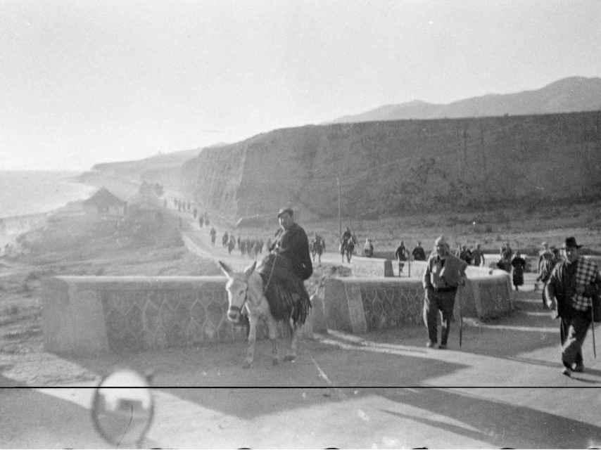 La masacre de la carretera Málaga-Almería se conoce popularmente como la Desbandá. Fotos de Hazen Sise cedidas por Jesús Majada y el CAF.