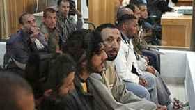 Acusados de la operación Nova durante el juicio en la Audiencia Nacional