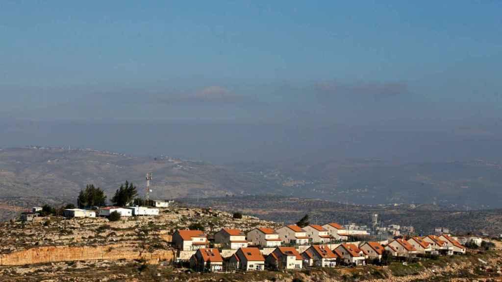 Vista general de los asentamientos judíos en territorios palestinos.