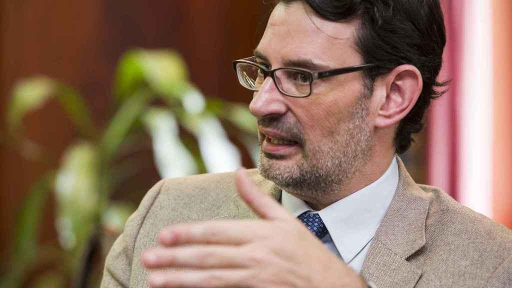 Oscar Marín, durante la entrevista