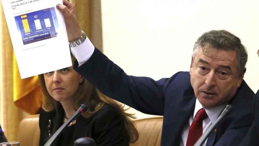 José Antonio Sánchez,  durante una comparecencia en la Comisión Mixta de Control Parlamentario de RTVE.