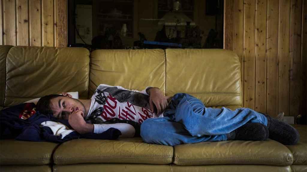 Ángel Basilio sufre una discapacidad del 83% y su dependencia es total