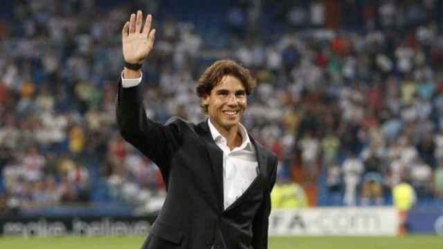 Rafa Nadal, en el Santiago Bernabéu