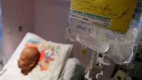 Un afectado recibe quimioterapia.
