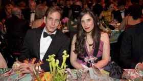 Andrea Casiraghi y Tatiana Santo Domingo, durante una cena.