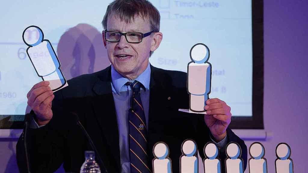 Hans Rosling en la Universidad de Oxford, 2012.